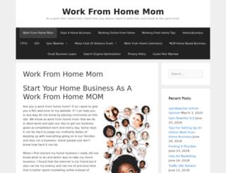 workfromhomemom.net screenshot