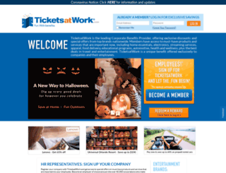 workingadvantage.ticketmonster.com screenshot