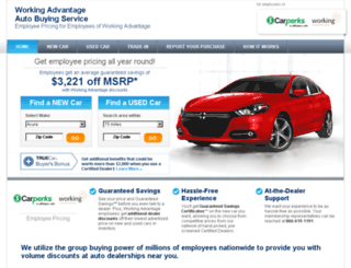 workingadvantage.truecar.com screenshot