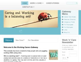 workingcarers.org.au screenshot