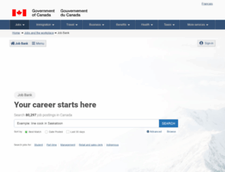 workingincanada.gc.ca screenshot