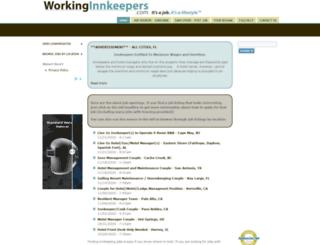 workinginnkeepers.com screenshot