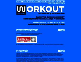 workout-cologne.de screenshot