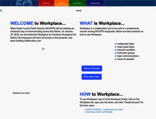workplace.dadeschools.net screenshot