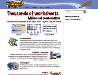 worksheetworks.com screenshot