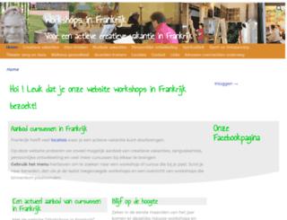 workshopsinfrankrijk.nl screenshot