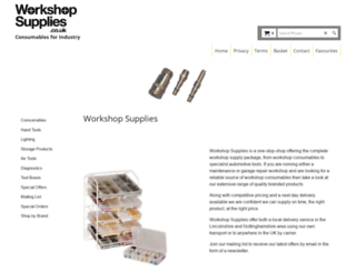 workshopsupplies.co.uk screenshot