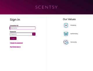 workstation.scentsy.co.uk screenshot