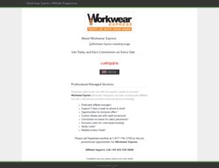 workwearexpress.affiliatetechnology.com screenshot