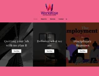 workwise.co.za screenshot