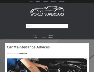 world-supercars.com screenshot