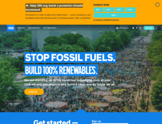 world.350.org screenshot