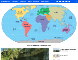 worldatlas.com screenshot