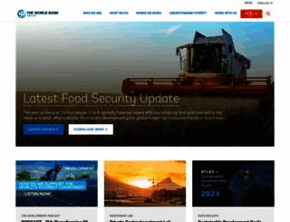 worldbank.org screenshot
