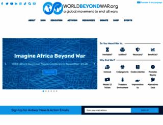 worldbeyondwar.org screenshot