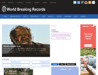 worldbreakingrecord.com screenshot