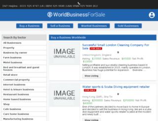 worldbusinessforsale.com screenshot