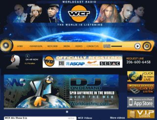 worldcastradio.com screenshot