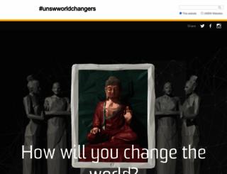worldchangers.unsw.edu.au screenshot