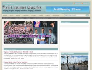 worldconsumeradvocates.com screenshot