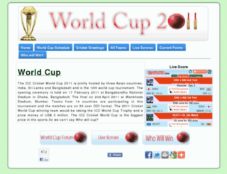 worldcup2011cricket.in screenshot