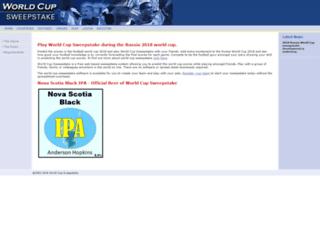worldcupsweepstake.com screenshot