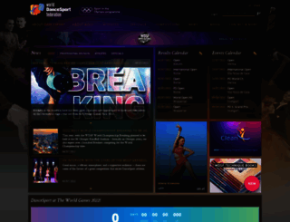 worlddancesport.org screenshot