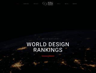 worlddesignrankings.com screenshot