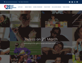 worlddownsyndromeday.org screenshot