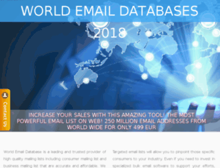 worldemaildatabases.com screenshot