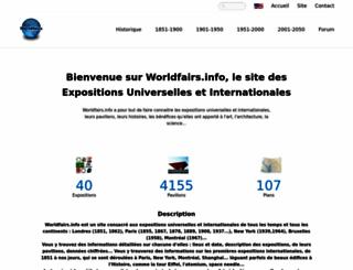 worldfairs.info screenshot