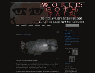worldgothfair.wordpress.com screenshot