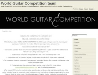 worldguitarcompetition.com screenshot