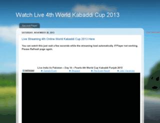 worldkabaddicup2013.blogspot.in screenshot