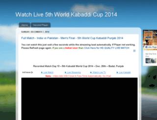 worldkabaddicup2014.blogspot.in screenshot