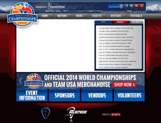 worldlacrosse2014.com screenshot
