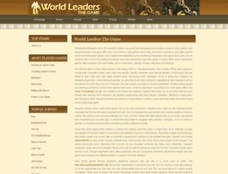 worldleadersthegame.com screenshot