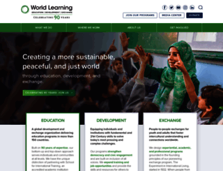 worldlearning.org screenshot