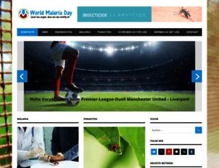 worldmalariaday.org screenshot