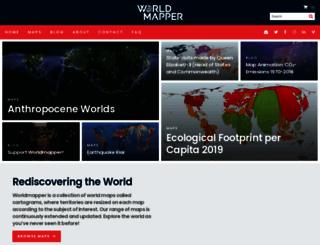worldmapper.org screenshot