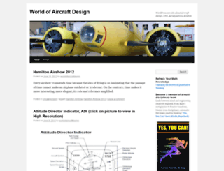 worldofaircraftdesign.wordpress.com screenshot