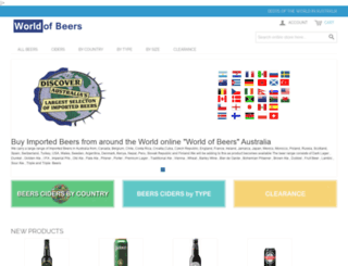 worldofbeers.com.au screenshot