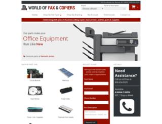 worldoffaxcopierparts.com screenshot
