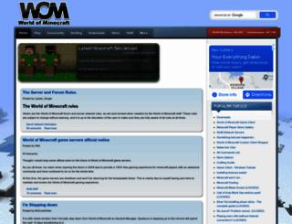 worldofminecraft.com screenshot