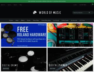 worldofmusic.com.au screenshot