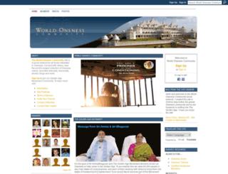 worldonenesscommunity.com screenshot