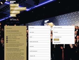 worldprocurementawards.awardsplatform.com screenshot