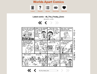 worldsapartcomics.thecomicseries.com screenshot