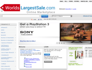 worldslargestsale.com screenshot