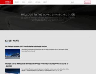 worldsnowboardguide.com screenshot